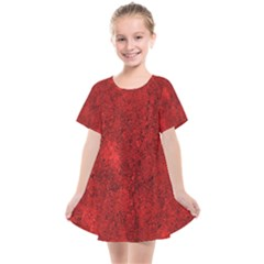 Bright Red Dream Kids  Smock Dress by retrotoomoderndesigns