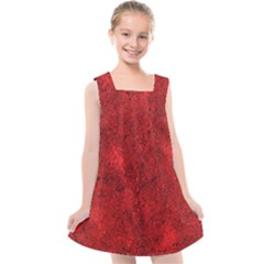 Bright Red Dream Kids  Cross Back Dress by retrotoomoderndesigns