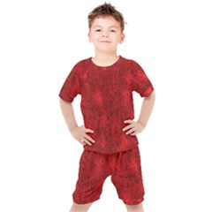 Bright Red Dream Kids  Tee And Shorts Set by retrotoomoderndesigns