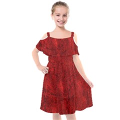 Bright Red Dream Kids  Cut Out Shoulders Chiffon Dress by retrotoomoderndesigns