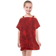 Bright Red Dream Kids  One Piece Chiffon Dress by retrotoomoderndesigns