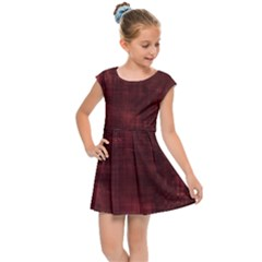 Red Grunge Kids  Cap Sleeve Dress