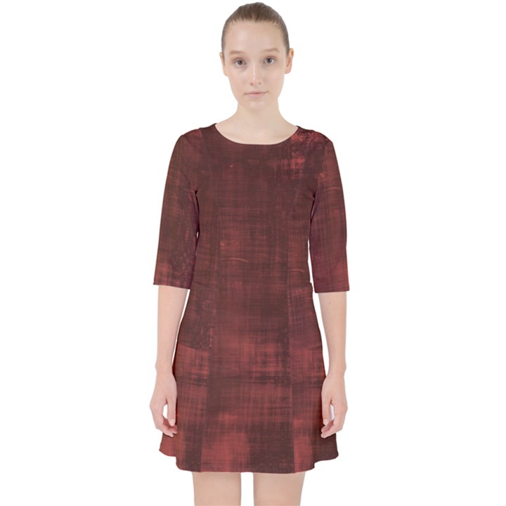 Red Grunge Pocket Dress