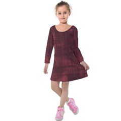 Red Grunge Kids  Long Sleeve Velvet Dress by retrotoomoderndesigns