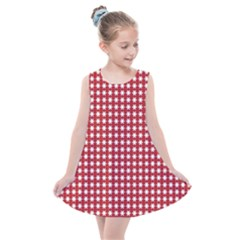Red White Stars Kids  Summer Dress by retrotoomoderndesigns