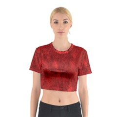 Bright Red Dream Cotton Crop Top by retrotoomoderndesigns