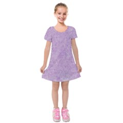 Lavender Elegance Kids  Short Sleeve Velvet Dress by retrotoomoderndesigns