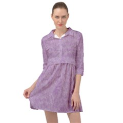 Lavender Elegance Mini Skater Shirt Dress