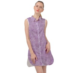 Lavender Elegance Sleeveless Shirt Dress by retrotoomoderndesigns