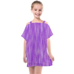 Purple Lavender Splash Kids  One Piece Chiffon Dress