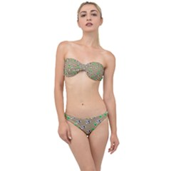 Bunnies Pattern Classic Bandeau Bikini Set by bloomingvinedesign