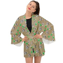 Bunnies Pattern Long Sleeve Kimono by bloomingvinedesign