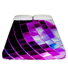 Purple Disco Ball Fitted Sheet (queen Size) by essentialimage