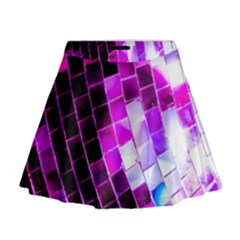 Purple Disco Ball Mini Flare Skirt by essentialimage