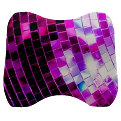 Purple Disco Ball Velour Head Support Cushion by essentialimage