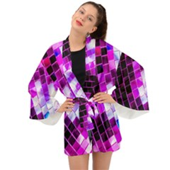Purple Disco Ball Long Sleeve Kimono by essentialimage