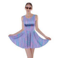 Purple Turquoise Watercolors Skater Dress