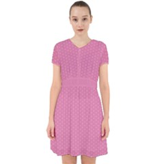 Polka Dotted Pinks Adorable In Chiffon Dress