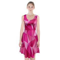 Abstract Pink Triangles Racerback Midi Dress by retrotoomoderndesigns