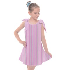 Pink Stripes Vertical Kids  Tie Up Tunic Dress by retrotoomoderndesigns