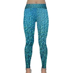 Turquoise Blue Ocean Classic Yoga Leggings