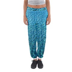 Turquoise Blue Ocean Women s Jogger Sweatpants