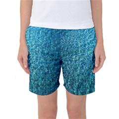 Turquoise Blue Ocean Women s Basketball Shorts
