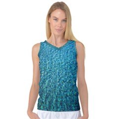 Turquoise Blue Ocean Women s Basketball Tank Top