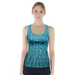 Turquoise Blue Ocean Racer Back Sports Top