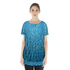 Turquoise Blue Ocean Skirt Hem Sports Top
