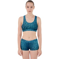 Turquoise Blue Ocean Work It Out Gym Set