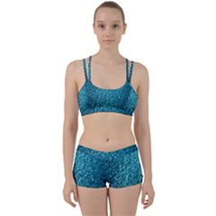 Turquoise Blue Ocean Perfect Fit Gym Set