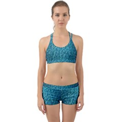Turquoise Blue Ocean Back Web Gym Set