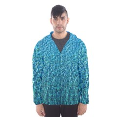 Turquoise Blue Ocean Men s Hooded Windbreaker