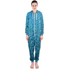 Turquoise Blue Ocean Hooded Jumpsuit (Ladies)