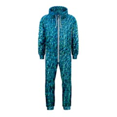 Turquoise Blue Ocean Hooded Jumpsuit (Kids)