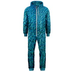 Turquoise Blue Ocean Hooded Jumpsuit (Men)