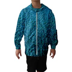 Turquoise Blue Ocean Kids  Hooded Windbreaker