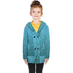 Turquoise Blue Ocean Kids  Double Breasted Button Coat by retrotoomoderndesigns