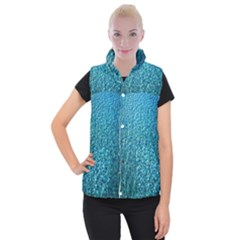 Turquoise Blue Ocean Women s Button Up Vest
