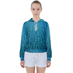 Turquoise Blue Ocean Women s Tie Up Sweat