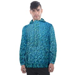 Turquoise Blue Ocean Men s Front Pocket Pullover Windbreaker
