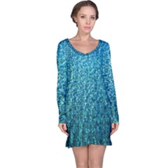 Turquoise Blue Ocean Long Sleeve Nightdress