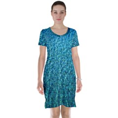 Turquoise Blue Ocean Short Sleeve Nightdress