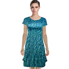 Turquoise Blue Ocean Cap Sleeve Nightdress