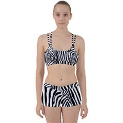 Vector Zebra Stripes Seamless Pattern Perfect Fit Gym Set