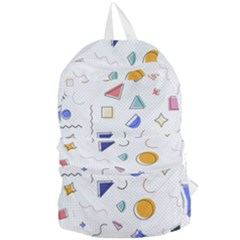 Memphis Pattern With Geometric Shapes Foldable Lightweight Backpack