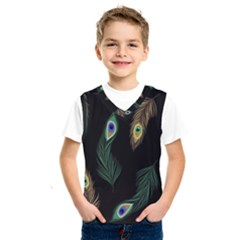 Seamless Pattern With Peacock Feather Kids  Sportswear