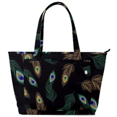 Seamless Pattern With Peacock Feather Back Pocket Shoulder Bag  by Vaneshart