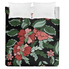 Beautiful Floral Vector Seamless Pattern Duvet Cover Double Side (queen Size)